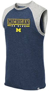 Michigan Wolverines Blue Quioto Sleeveless Terry Shirt