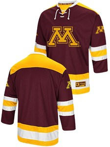0497544ff Minnesota Golden Gophers Adult Athletic Machine Embroidered Hockey Jersey  Sweater