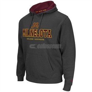 Minnesota Golden Gophers Mens Charcoal Zone 2 Embroidered Hoodie
