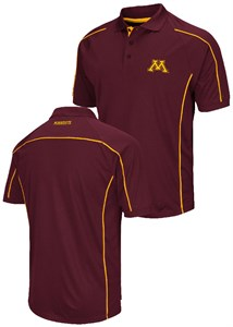 Minnesota Golden Gophers Mens Maroon Chiliwear Synthetic Overtime Polo Shirt
