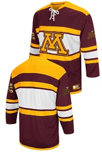 12a5671af Minnesota Golden Gophers Mens Maroon Open Net 2 NCAA Synthetic Hockey  Sweater by Colosseum