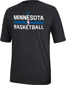 32e31e3a8d Minnesota Timberwolves Heather Charcoal Climalite Practice Short ...