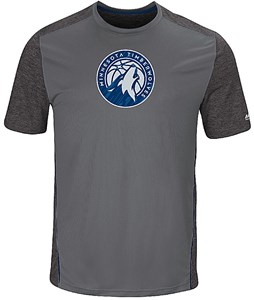 Minnesota Timberwolves Mens Storm Grey Respect The Play Synthetic T Shirt