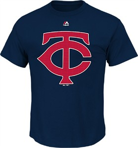 Minnesota Twins Blue Skills Test Synthetic Performance T Shirt by Majestic