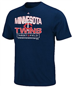 Minnesota Twins Mens Navy Authentic Experience Tee Shirt by Majestic