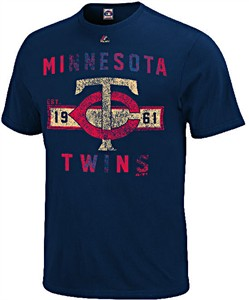 Minnesota Twins Navy Cooperstown Desire More T Shirt by Majestic