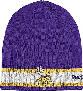 Minnesota Vikings Cuffless Knit Cap by Reebok