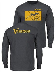 8bcf028cf Minnesota Vikings Mens Grey Offsides Long Sleeve Tee Shirt ...