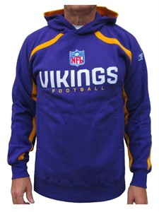 Minnesota Vikings Purple Valiant Hooded Sweatshirt By Reebok