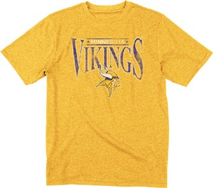 Minnesota Vikings Reebok Gold Throwback Nostalgic SS Tee Shirt