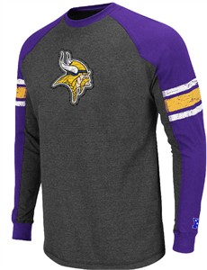 Minnesota Vikings Victory Pride Charcoal Throwback Long Sleeve  Shirt By VF