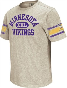 Minnesota Vikings Vintage Applique Shirt by Reebok-Grey