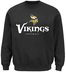 wholesale dealer 85586 e6573 Minnesota Vikings Mens Black Critical Victory 3 Crewneck ...