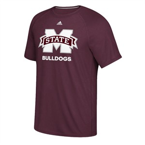 Mississippi State Bulldogs Adidas Maroon Loyal Fan Climalite Short Sleeve T Shirt