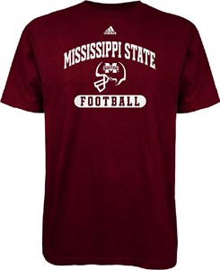 Mississippi State Bulldogs Adidas Sport Arch Maroon SS T Shirt