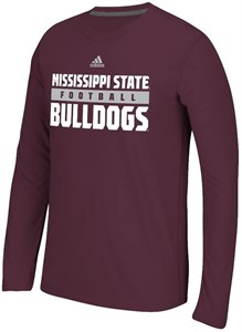 Mississippi State Bulldogs Adidas Ultimate Synthetic Performance Long Sleeve Shirt