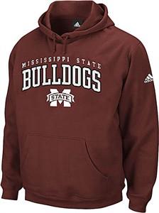 Mississippi State Bulldogs Embroidered Playbook II Hooded Sweatshirt by Adidas