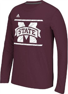 Mississippi State Bulldogs Maroon Adidas Sidelines Energize Ultimate Polyester Long Sleeve Shirt