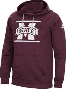 Mississippi State Bulldogs Mens Maroon Sidelines Energize Synthetic Hoodie by Adidas