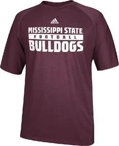 Mississippi State Bulldogs Redzone Maroon Climalite SS Shirt by Adidas