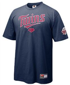 Minnesota Twins Blue MLB Practice 8 Short Sleeve Tee Shirt By Nike Team Sports