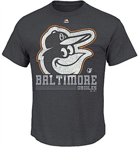 MLB Baltimore Orioles 6th Inning Short Sleeve Tee Shirt by Majestic