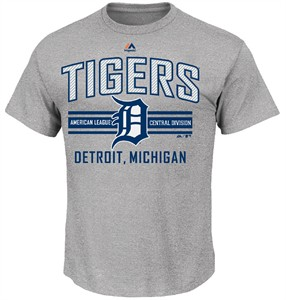 MLB Detroit Tigers Grey 1st to 3rd Short Sleeve T Shirt by Majestic