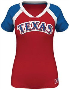 MLB Texas Rangers Ladies Forged Classic Synthetic Fashion Top