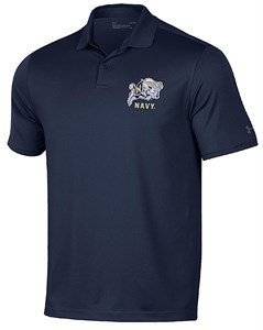 Navy Midshipmen Mens Navy Performance Polo Shirt by Under Armour on Sale