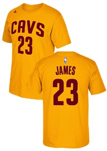 NBA Lebron James Cleveland Cavaliers Youth Gametime HD Gold Screened Players T Shirt