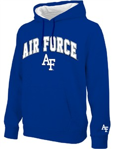NCAA Air Force Falcons Royal Embroidered College Classic Hoodie Sweatshirt on Sale
