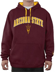 NCAA Arizona State Sun Devils Maroon Embroidered College Classic Hoodie Sweatshirt