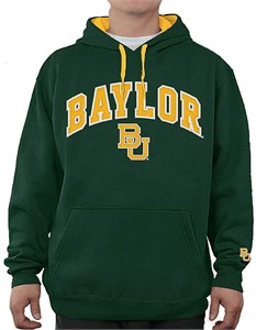 NCAA Baylor Bears Green Embroidered College Classic Hoodie Sweatshirt