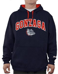 NCAA Gonzaga Bulldogs Blue Embroidered College Classic Hoodie Sweatshirt