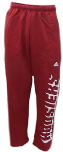 NCAA Indiana Hoosiers Crimson Shadow Mesh Open Bottom Sweatpants by Adidas
