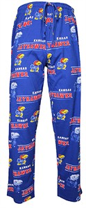 NCAA Kansas Jayhawks Mens Royal Fusion Pajama Pants