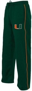 Miami Hurricanes Green Speed Synthetic Fleece Athletic Pants