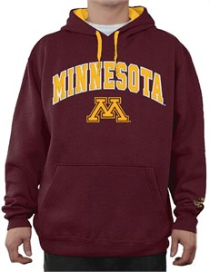 NCAA Minnesota Golden Gophers Maroon Embroidered College Classic Hoodie Sweatshirt