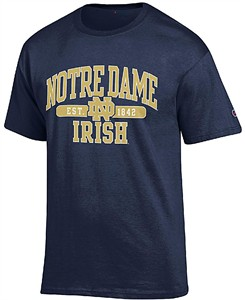 meet 44c9c de773 NCAA Notre Dame Fighting Irish Champion Navy Established Short Sleeve T  Shirt   Notre Dame Fighting Irish-View All Apparel