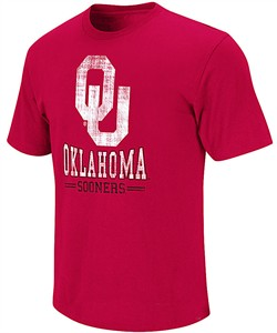 NCAA Oklahoma Sooners Crimson Spiral Short Sleeve T Shirt by Colosseum