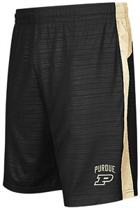 NCAA Purdue Boilermakers Mens Black Synthetic Shorts-In The Vault