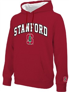 NCAA Stanford Cardinal Cardinal Embroidered College Classic Hoodie Sweatshirt