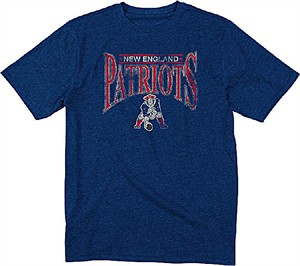 New England Patriots Blue Heather Nostalgic Throwback T Shirt by Reebok