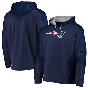 New England Patriots Blue Poly Shield Synthetic Hoodie Sweatshirt
