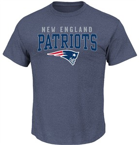 New England Patriots Majestic Athletic Navy Red Zone Opportunity Tee Shirt   13c1b4c67