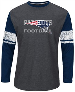 New England Patriots Mens Down To The Wire Long Sleeve Thermal Shirt by Majestic