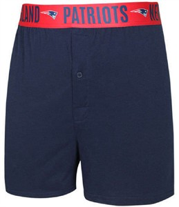 New England Patriots Mens Navy Oversized Title Boxer Shorts  9942458e3