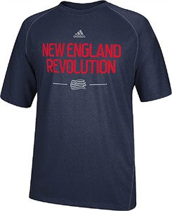 80267f9bfe135 New England Revolution Navy Climalite Authentic Practice T Shirt by Adidas