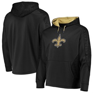 new products 23661 ef32d New Orleans Saints Poly Shield Synthetic Hoodie Sweatshirt ...