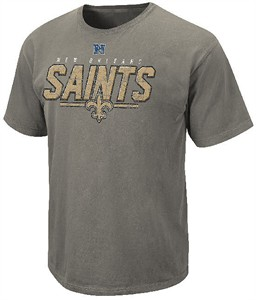 New Orleans Saints Vintage Roster II T Shirt by VF-Pigment Grey